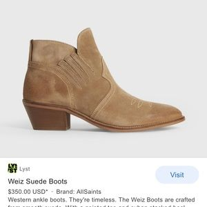 All Saints Weiz Western Booties